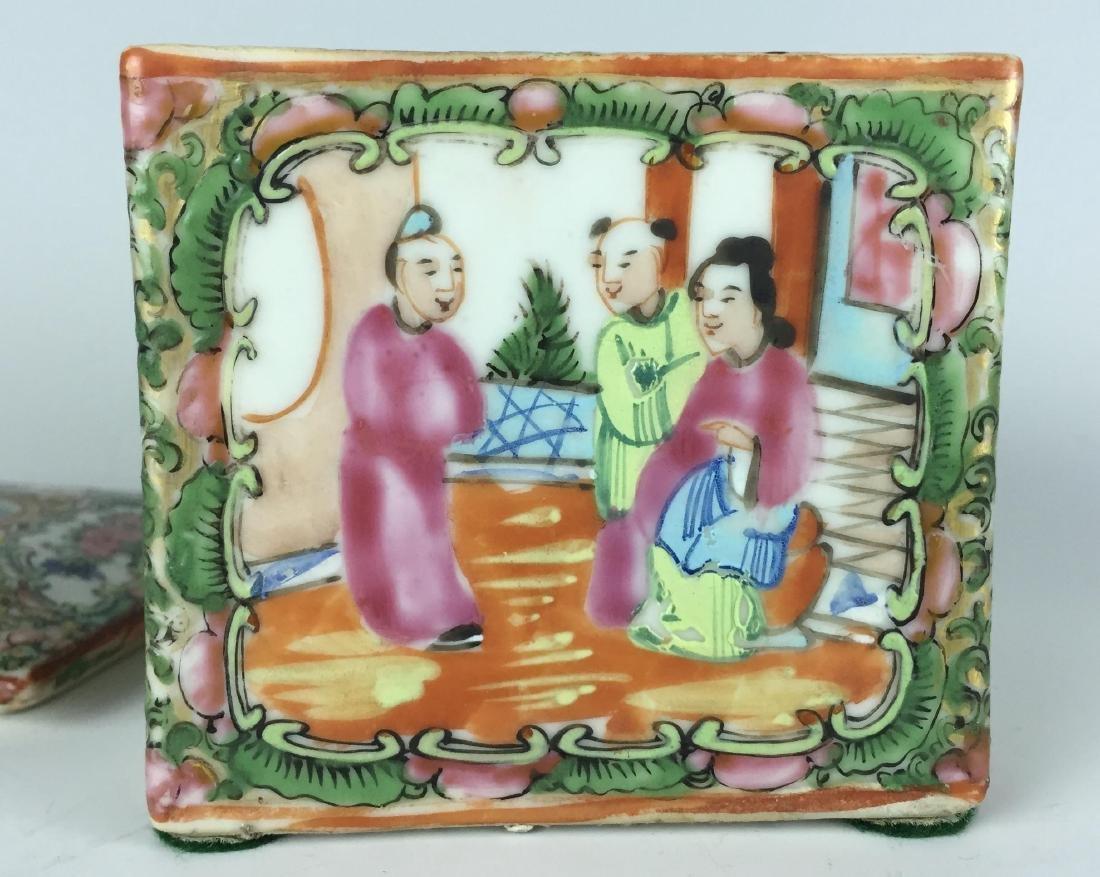 Canton Enamel Porcelain Box - People - 3