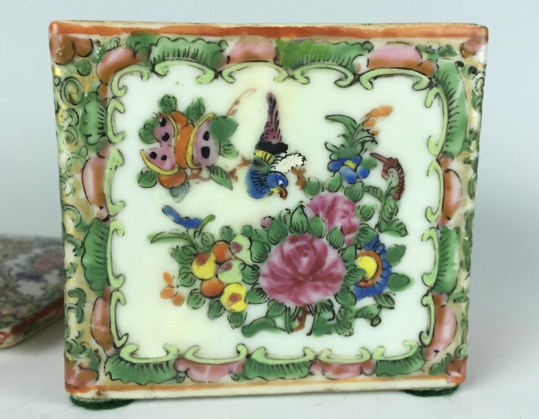Canton Enamel Porcelain Box - People - 4