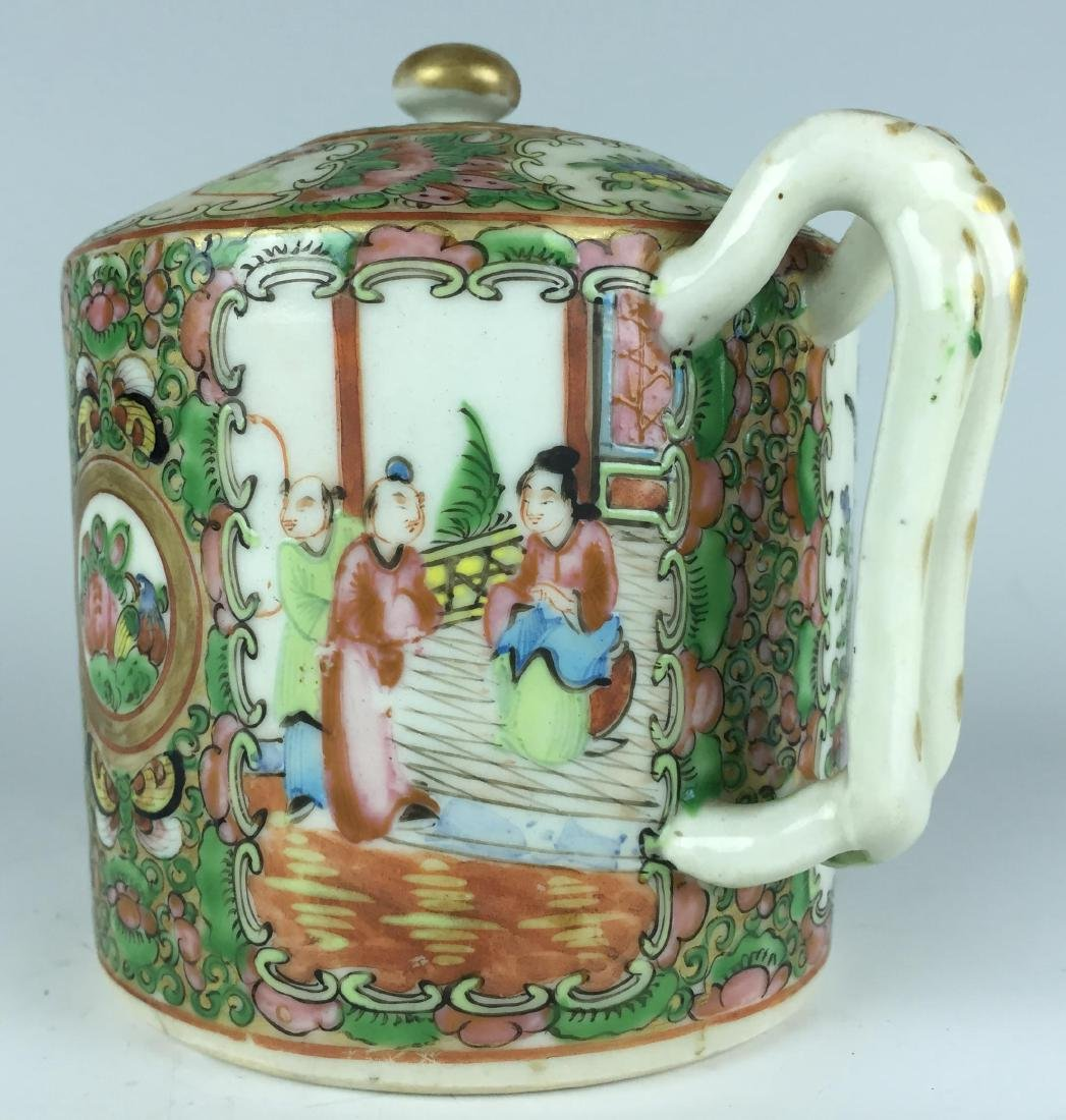 Chinese Canton Enamel Porcelain Tea Pot - People - 6