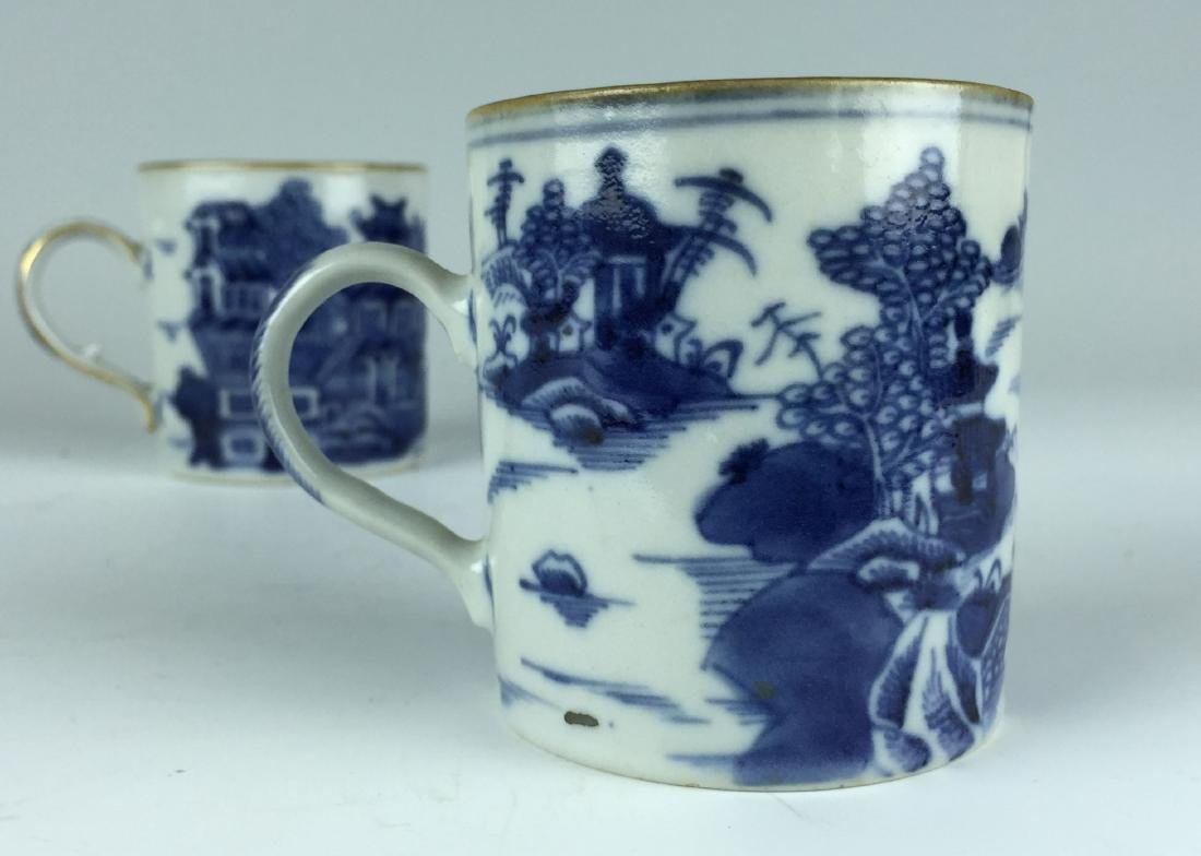 Pair of Chinese Blue and White Porcelain Cups - 3