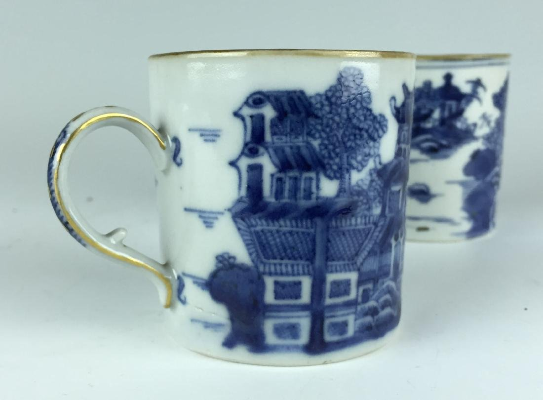Pair of Chinese Blue and White Porcelain Cups - 5