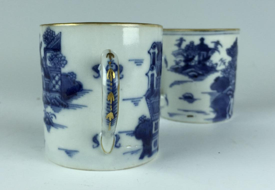 Pair of Chinese Blue and White Porcelain Cups - 7