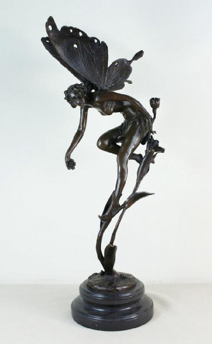 "19"" Large Carved Bronze Fairy"