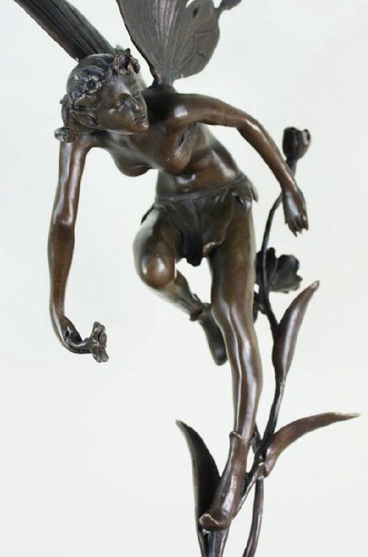 "19"" Large Carved Bronze Fairy - 4"