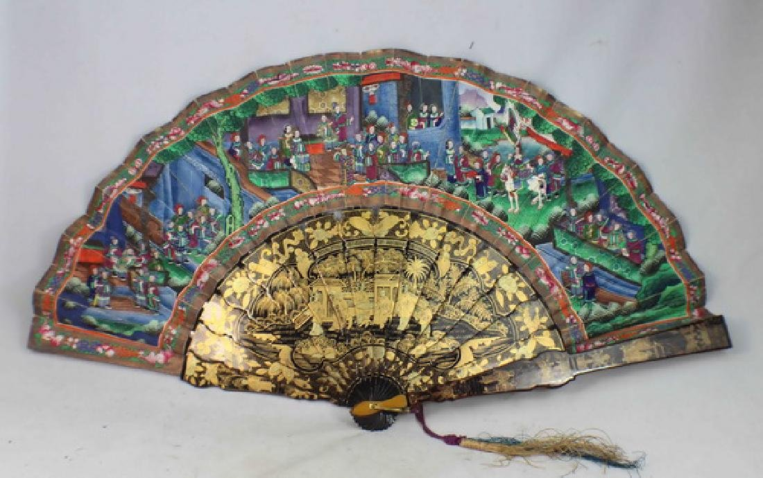 Chinese Antique Hand Painted Fan