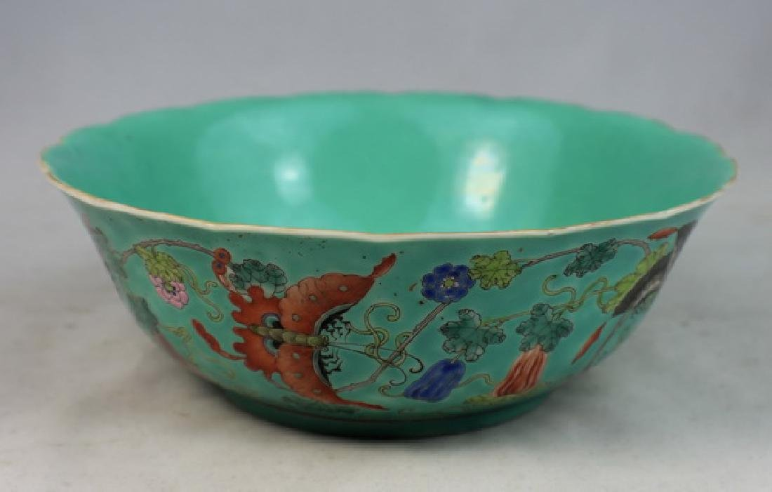 Antique Chinese Painted Porcelain Bowl w,Marked