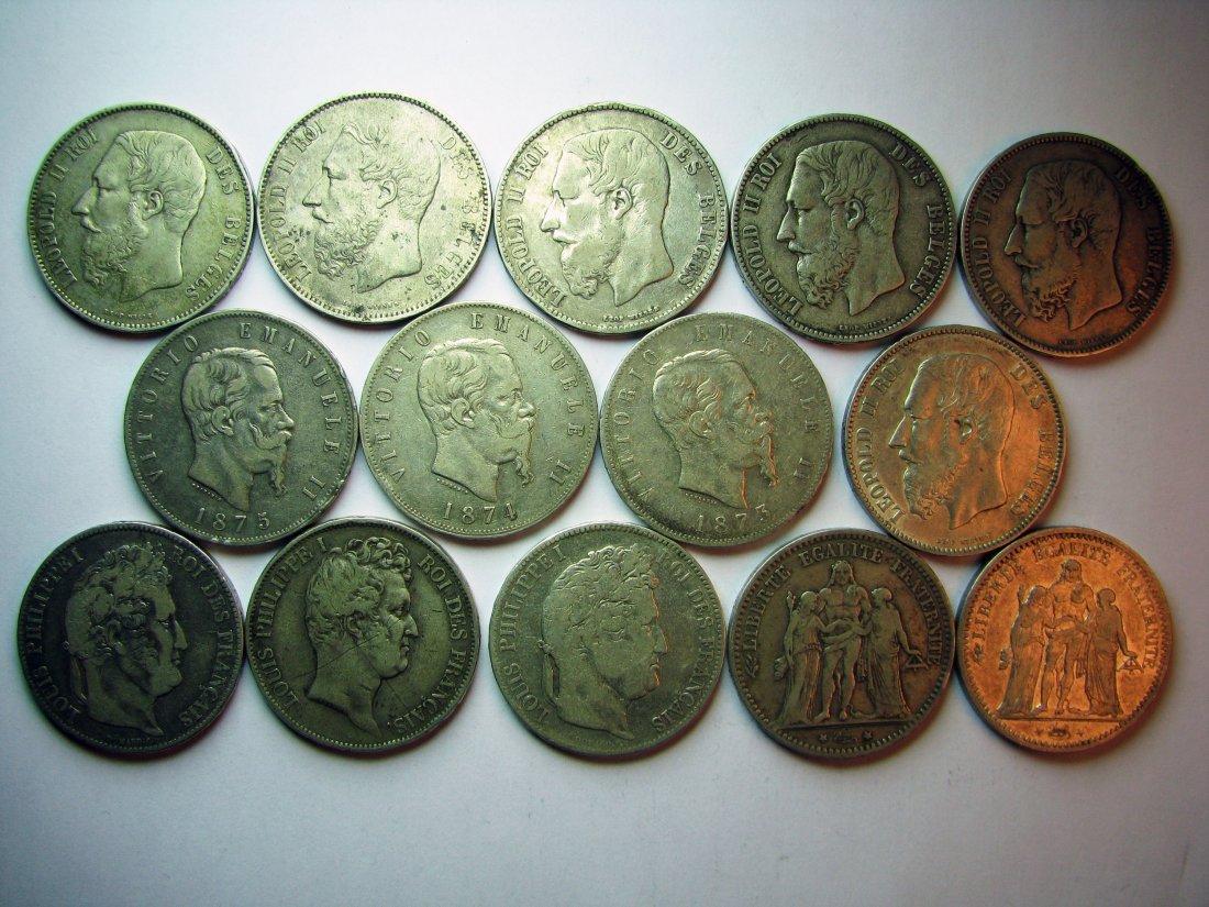 Lot of 14 écu de 5 Francs