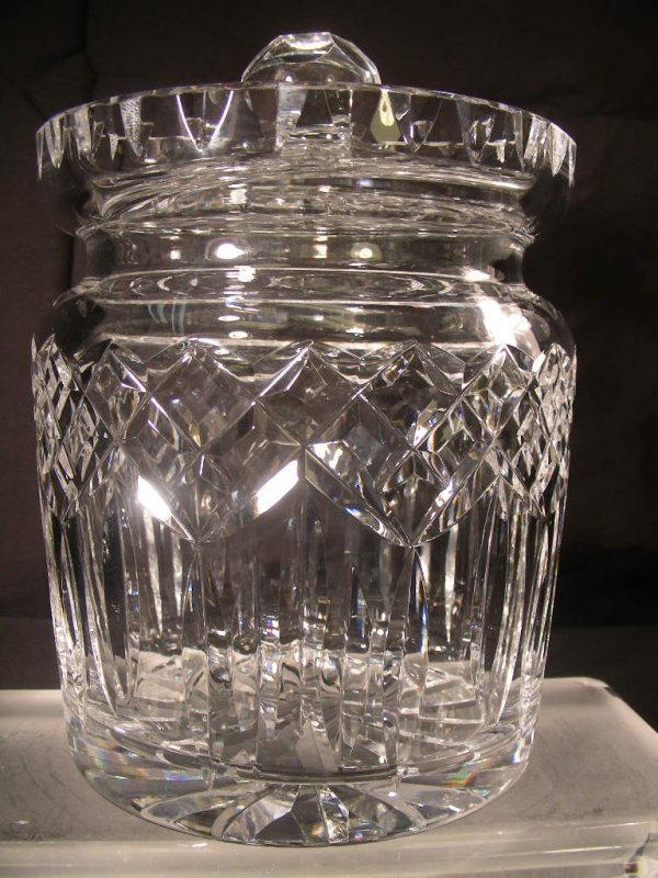 17: IRISH WATERFORD CRYSTAL LISMORE BISCUIT BARREL JAR