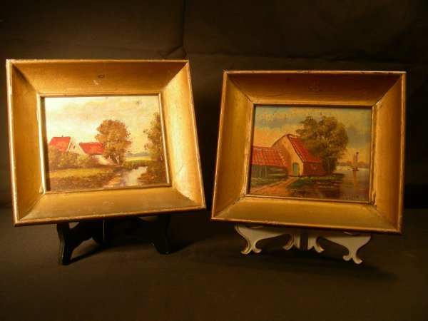 18: PR SMALL OIL ON BOARD PAINTINGS SIGNED H WEBSTER