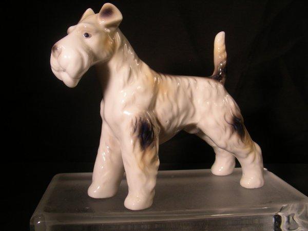 401: WIRE HAIR FOX TERRIER DOG PORCELAIN FIGURINE