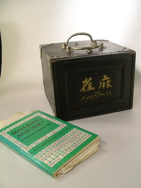 415: COMPLETE BOXED MAHJONG SET WITH BOOK 2 PIECES