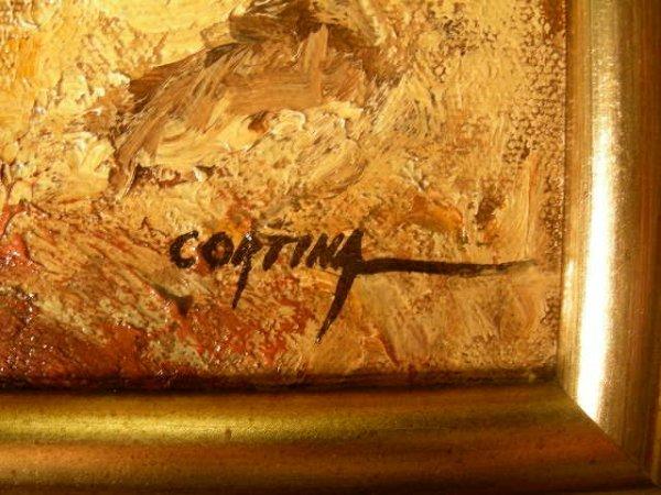 598: LG MAXIMO CORTINA OIL PAINTING ESPANA COURTYARD - 7