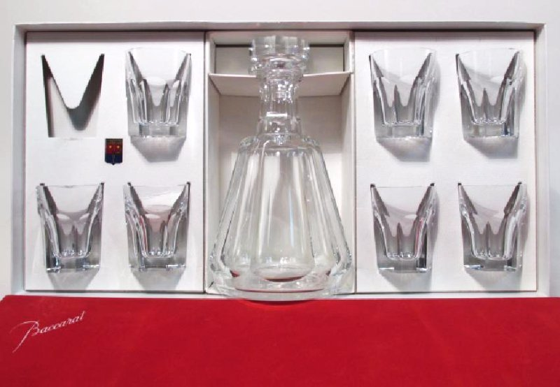 "BACCARAT ""TALLEYRAND"" CRYSTAL LIQUOR SET"