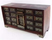 ITALIAN NEOCLASSICAL INLAID EBONY TABLE CABINET