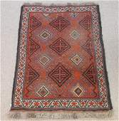 HAND KNOTTED PERSIAN STYLE WOOL RUG 3' X 4'