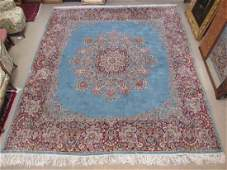 PERSIAN KERMAN HAND KNOTTED RUG  104 x 1110