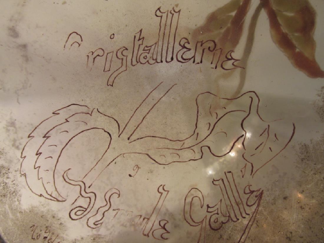 "EMILE GALLE CRISTALLERIE ""DAHLIAS"" GLASS VASE - 9"