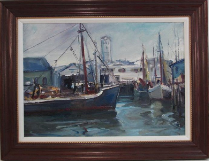 EMILE ALBERT GRUPPE OIL ON CANVAS BOARD PAINTING