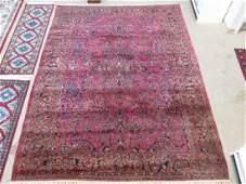 LARGE ANTIQUE LILIHAN PERSIAN RUG  91 X 118