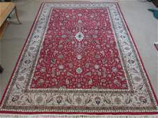 LARGE PERSIAN HAND KNOTTED WOOL RUG 10' X 14'