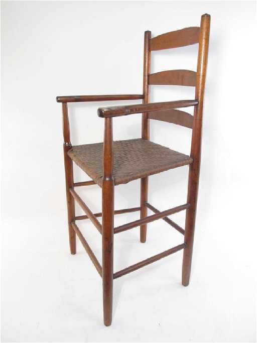 - ANTIQUE SHAKER WEAVERS CHAIR