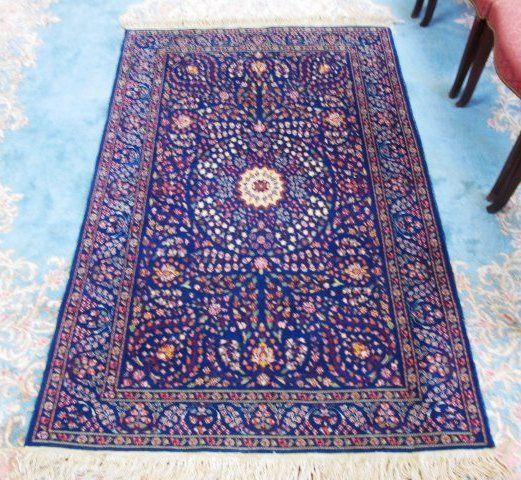 """PERSIAN HAND KNOTTED WOOL RUG - 6'1"""" x 4'1"""""""