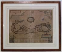 WILLEM JANSZOON BLAEU 17TH18TH C MAP OF BERMUDA