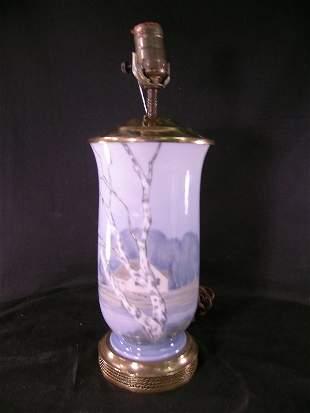 ROYAL COPENHAGEN PORCELAIN PAINTED TABLE LAMP