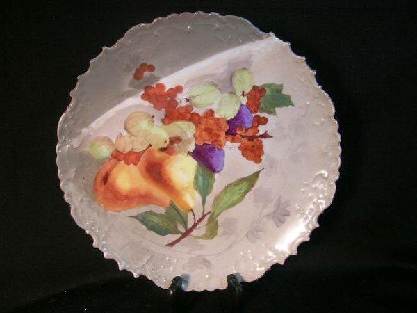 13: LIMOGES ANTIQUE PAINTED PLATE FRUIT STILL LIFE