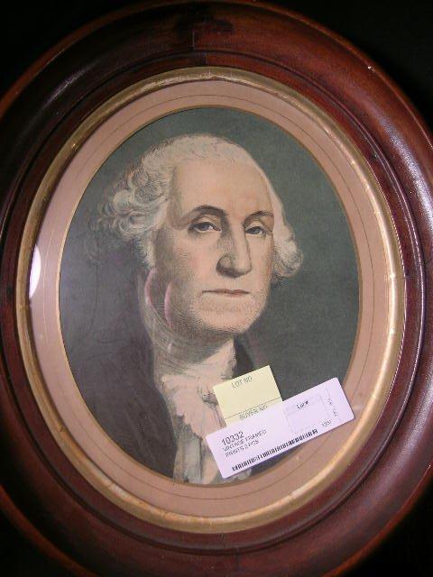 14: ANTIQUE SHADOWBOX FRAME PRINT GEORGE WASHINGTON