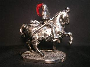FIGURAL LIGHTER KNIGHT ON HORSE