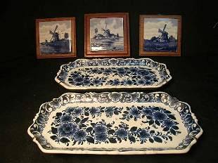 GRP DELFT SMALL TRAYS AND TILES