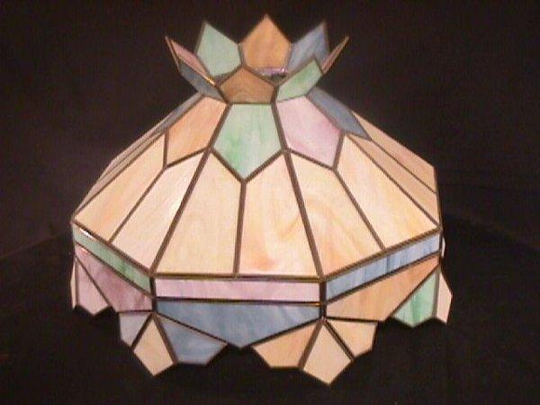 23: PASTEL SLAG GLASS LAMP SHADE LARGE