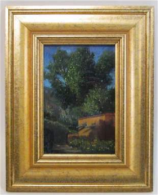 SMALL FRAMED PASTEL PAINTING