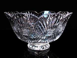 WATERFORD FOOTED CRYSTAL BOWL