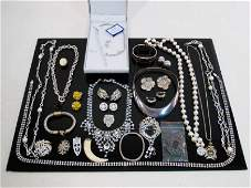 TRAY LOT ASSORTED STERLING  OTHER JEWELRY ETC