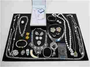 TRAY LOT ASSORTED STERLING & OTHER JEWELRY, ETC.