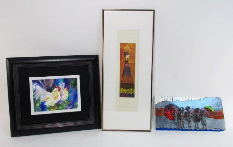 ASSORTED ARTWORK: MATHIAS MULEME, ROBERT BLOOM,etc