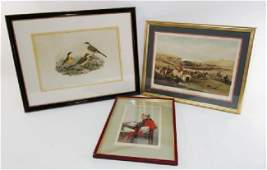 THREE ANTIQUE FRAMED PRINTS VANITY FAIR HUNT SCE