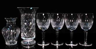 WATERFORD CRYSTAL COLLEEN STEMS  8 VASE 6 PCS