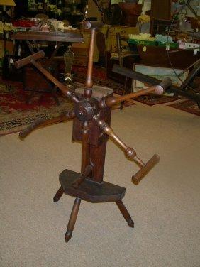 40 Antique Wooden Spinning Yarn Winder