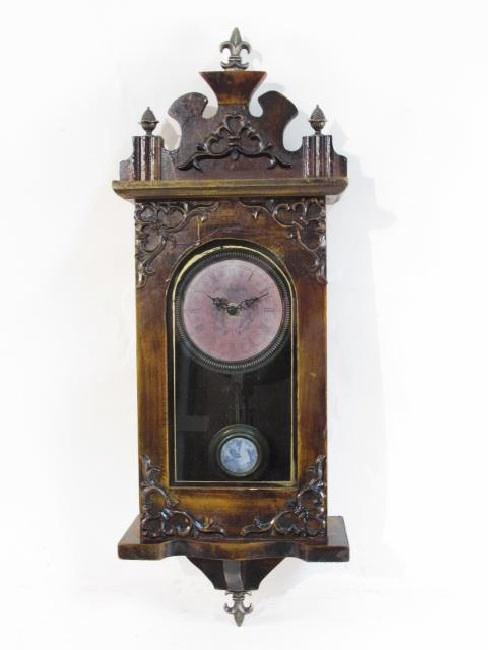 ANTIQUE STYLE WOODEN WALL CLOCK