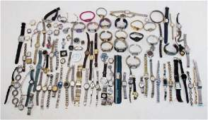 LARGE COLLECTION ASSORTED LADIES WRISTWATCHES