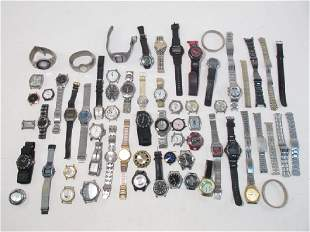 LARGE COLLECTION OF VINTAGE MENS WRISTWATCHES, ETC