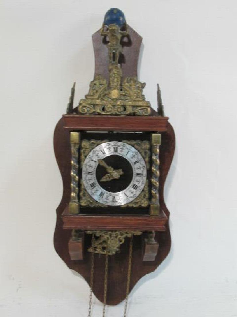 DECORATIVE 20TH C BADISCHE UHRENFABRIK WALL CLOCK