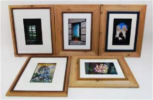 FIVE FRAMED PHOTOGRAPHS BY ELIO PENSO