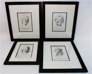 FOUR COPPERPLATE ENGRAVINGS AFTER CHARLES LE BRUN
