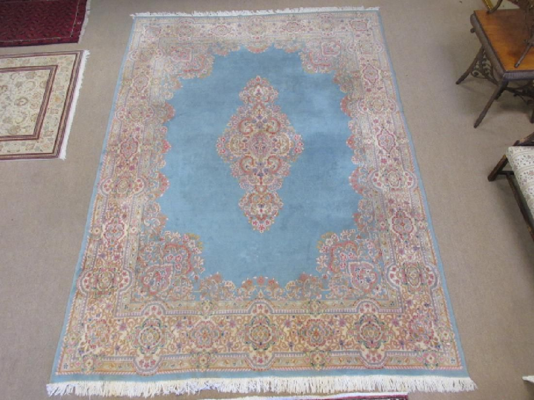 LARGE PERSIAN KERMAN HAND KNOTTED AREA RUG -