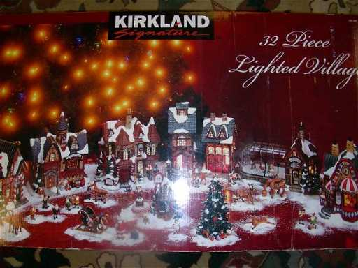 681 kirkland 32 pc lighted christmas village