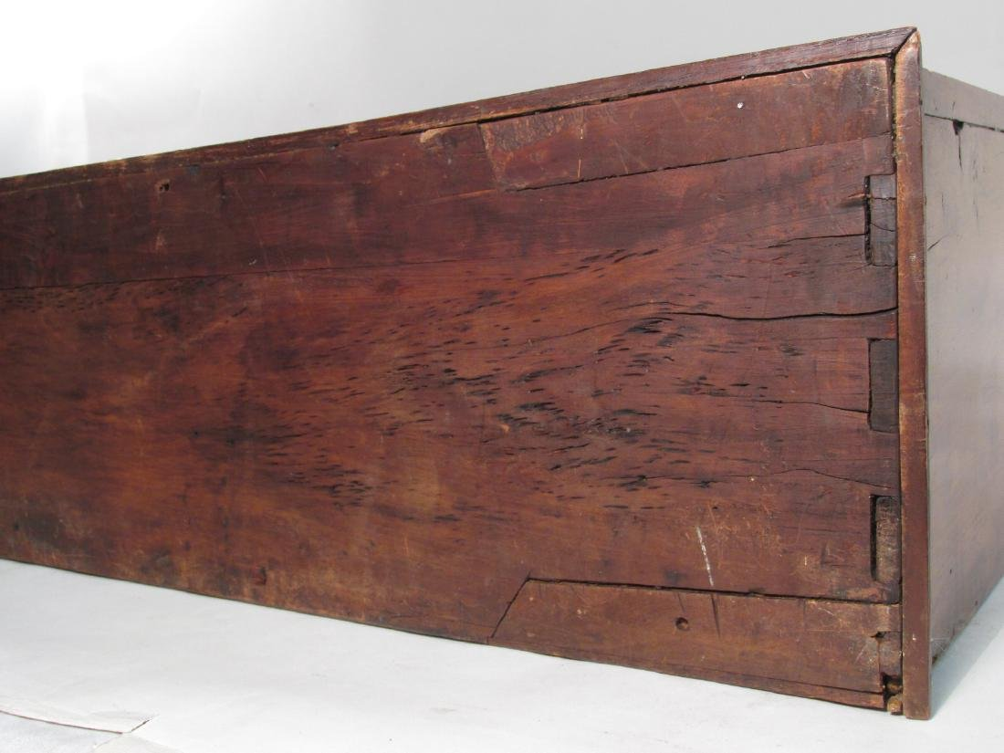 EARLY 19TH C CARVED CHERRYWOOD WALL SHELF - 10